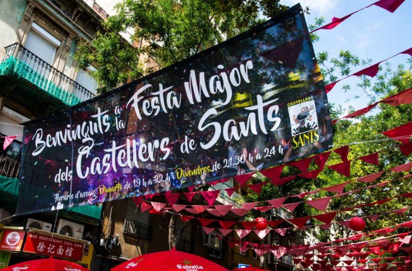Els castellers mantenen els actes de la festa major