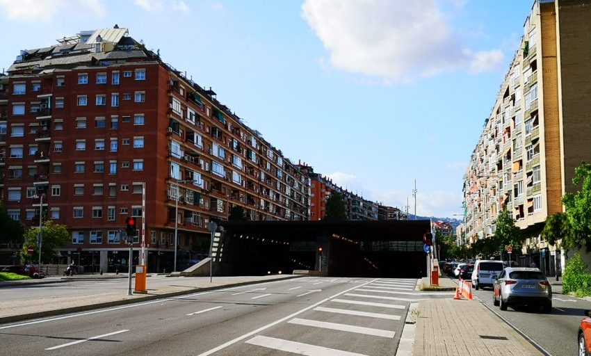 Afectacions de trànsit al túnel de Badal de la ronda del Mig