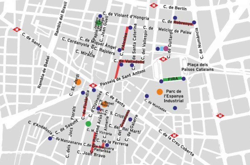 El mapa de la festa major de Sants