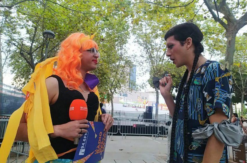 El discurs de la drag Ona Molona en defensa del col·lectiu i de la ràdio local