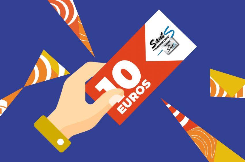 En Santiago es fa amb el primer xec de 10 euros