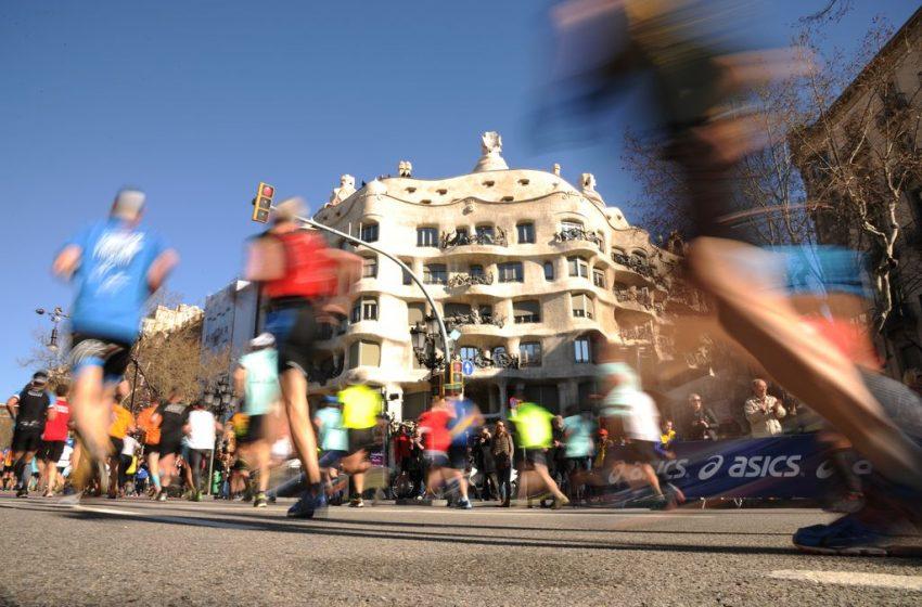 Cristina Silva i Alejandro Rodríguez pòdium a la cursa de la Mercè 2021