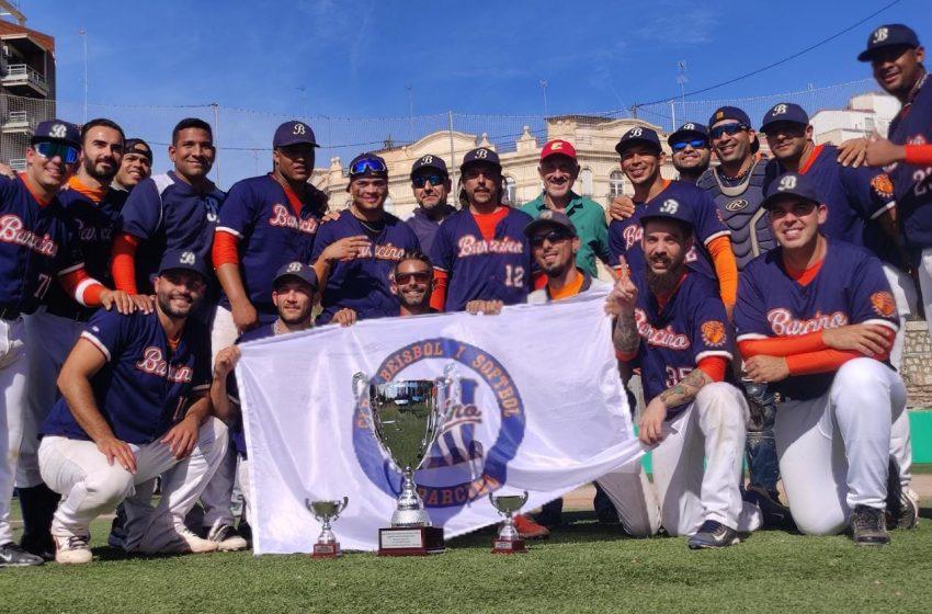 El Club de Beisbol i Softbol Barcino es proclama Campió de la Lliga